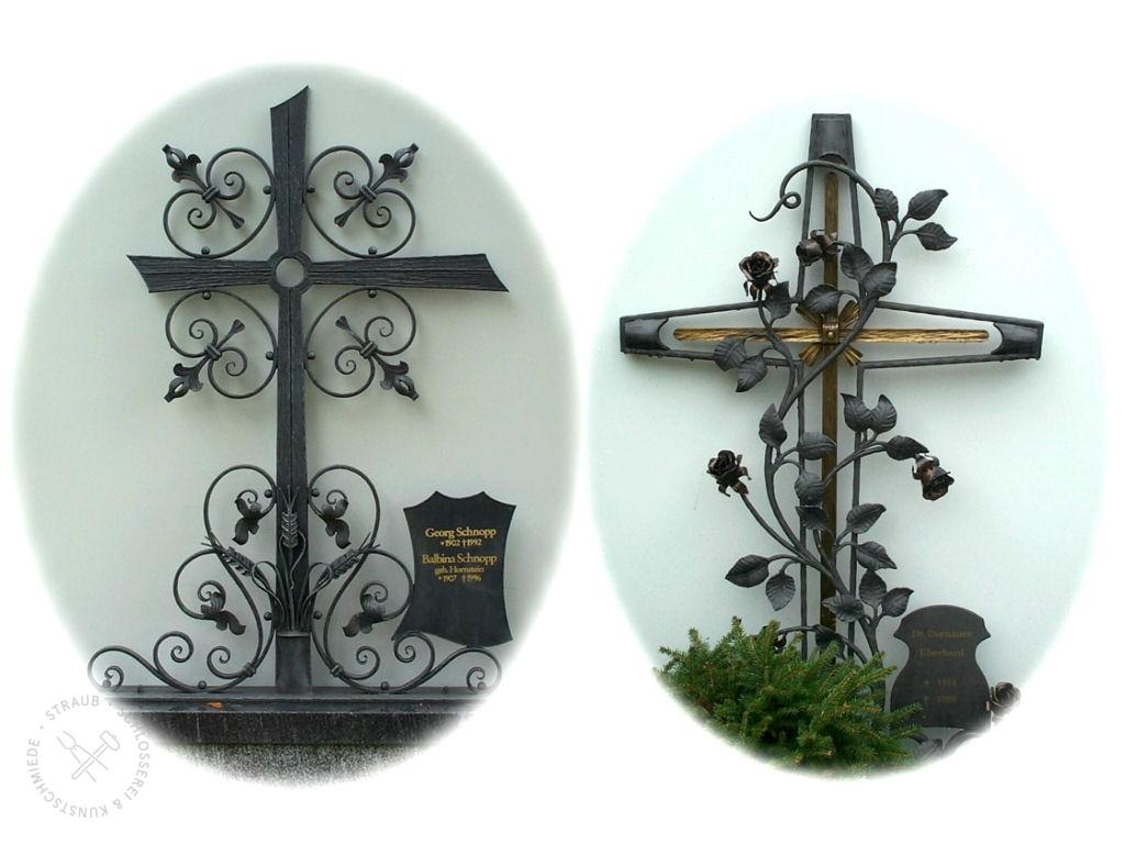 Grabkreuze aus Metall